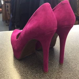 Jessica Simpson Shoes - Jessica Simpson Pink Suede Heels